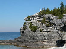 The Niagara Escarpment on the Bruce Peninsula.